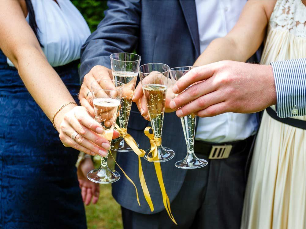 Toast at wedding