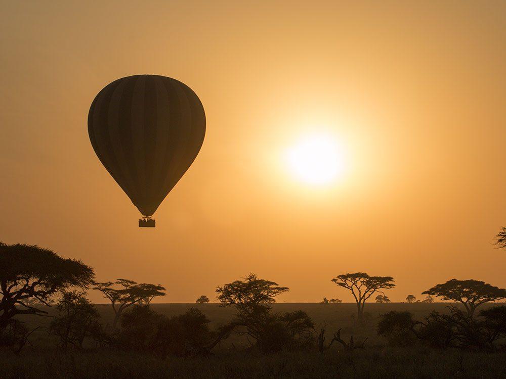 Hot air balloon in the Maasai Mara