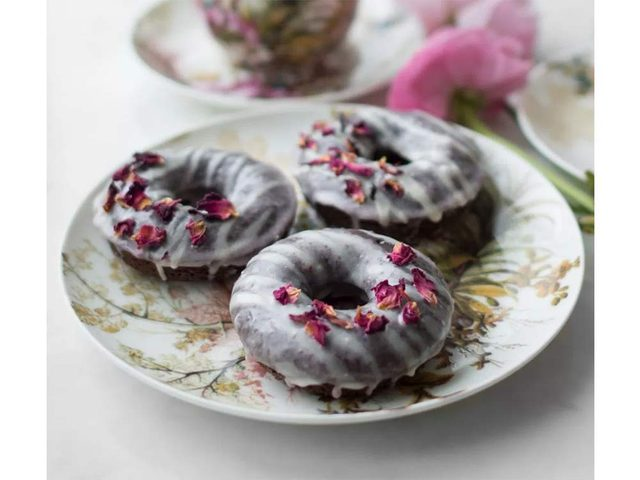 Baked Chocolate Strawberry Glazed Donuts