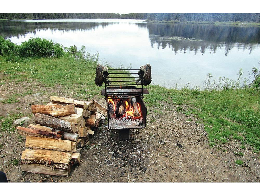 Camp fire in Bay of Fundy