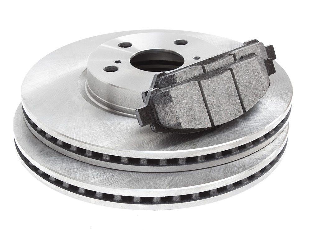Brake discs and brake pads