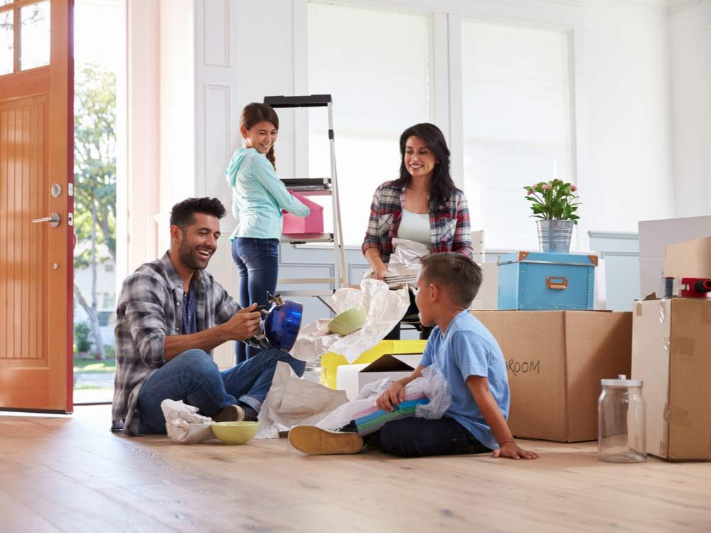 Family of four moving into new home
