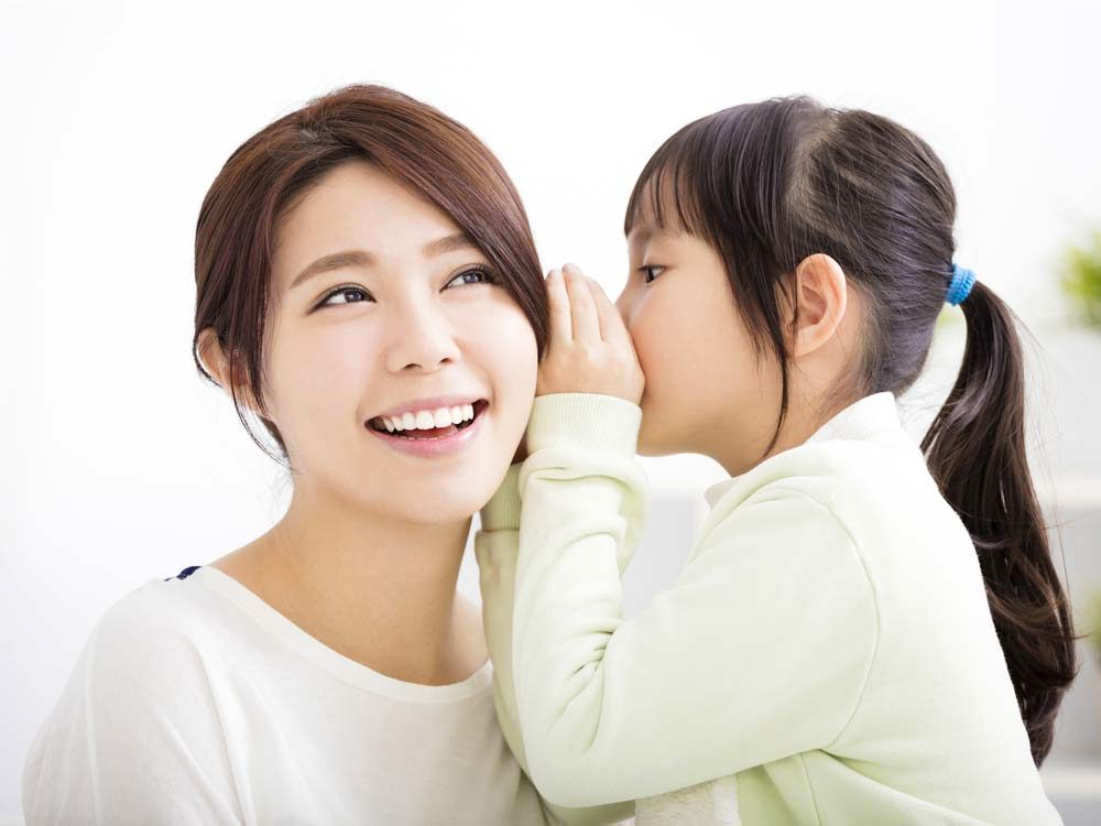 Japanese mother and daughter