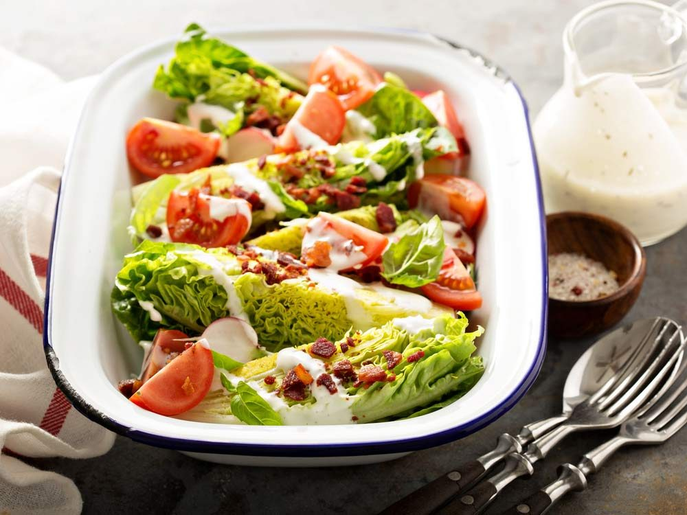 Use buttermilk leftovers to create salad dressing