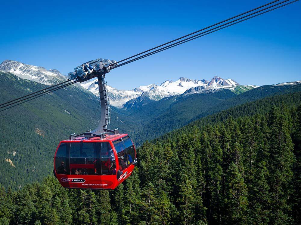Peak 2 Peak Gondola in Whistler, British Columbia