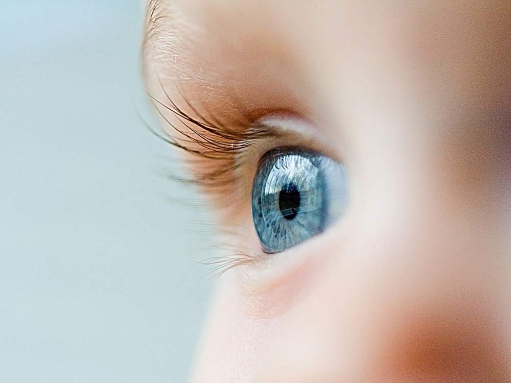 Close-up of boy's eye