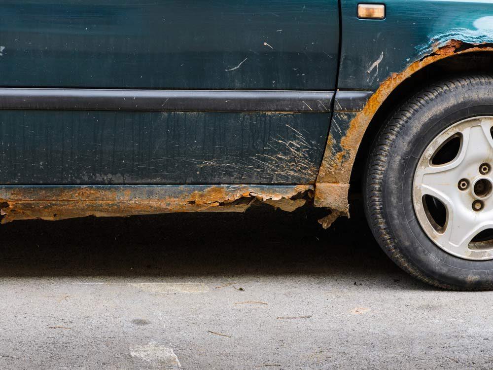 Rusted van