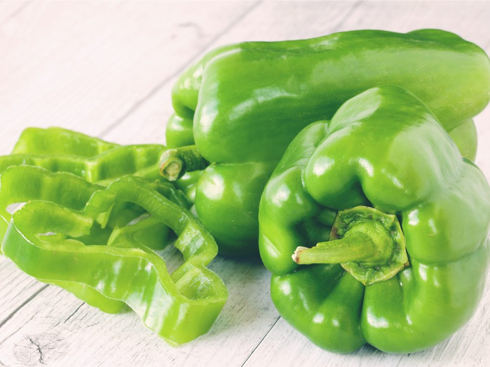 Green peppers help with weight loss