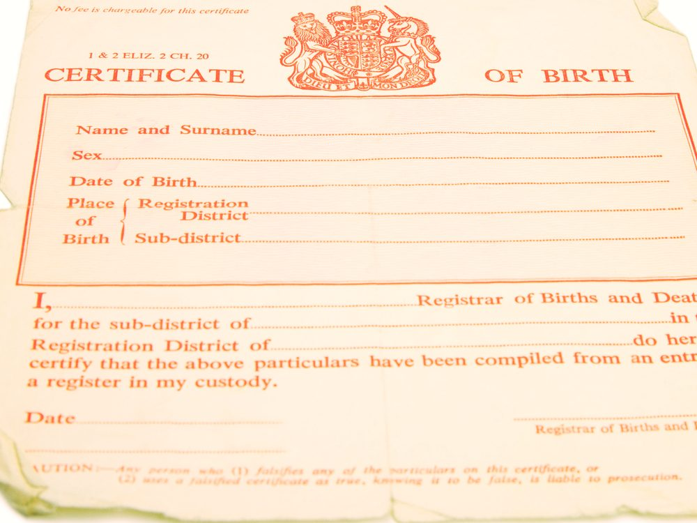 Never post a photo of a birth certificate on social media