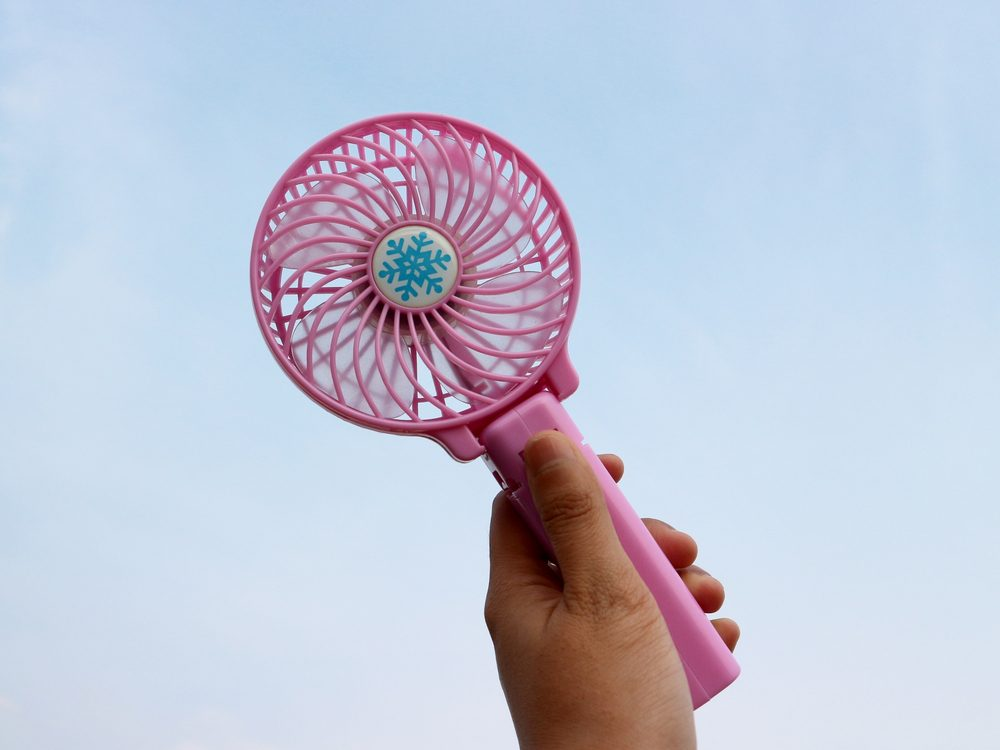 Wind is something mosquitoes hate. Carry a small fan