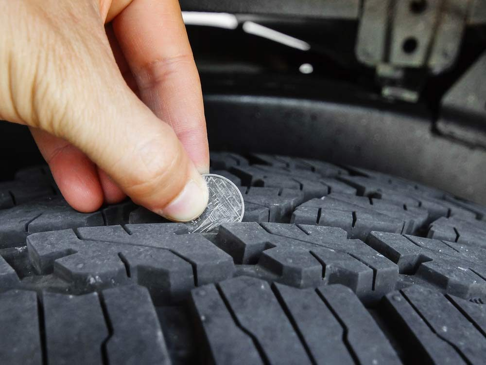 Tire and coin trick