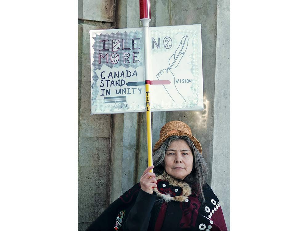 Canadian protestor