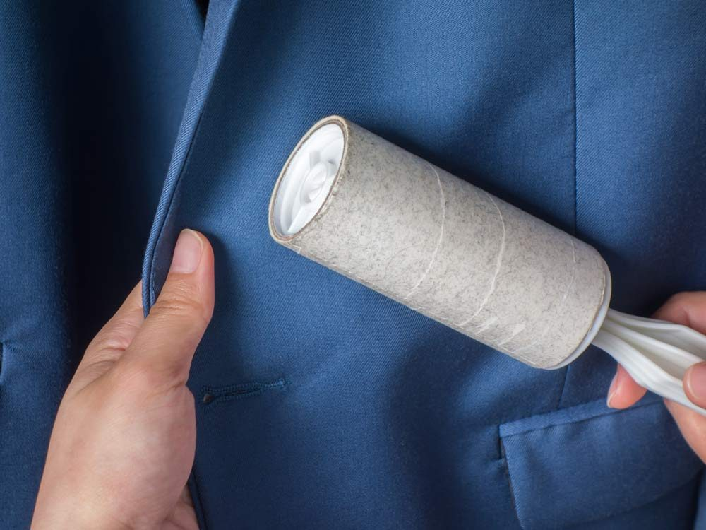 Use lint rollers to get rid of pesky hair