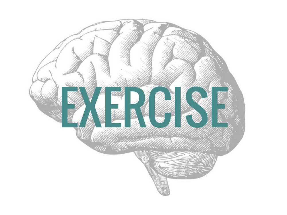 Exercise to calm down your brain