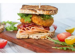 Bacon, Turkey and Fried Green Tomato Club