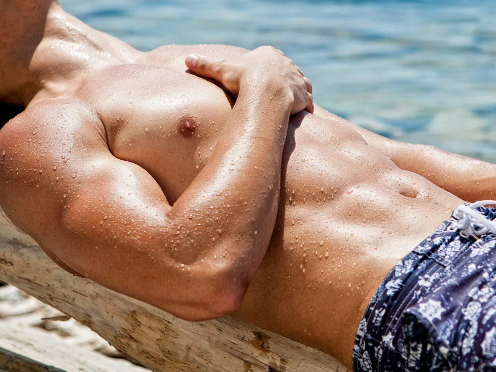 Man's nipples