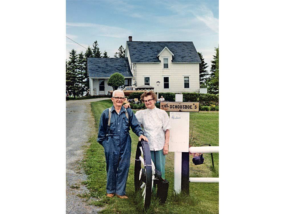 Gus and Helvig on their farm