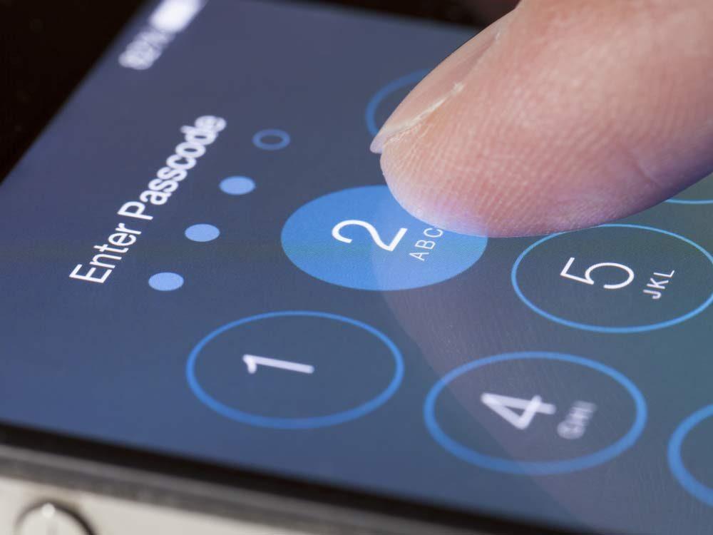 iPhone password screen