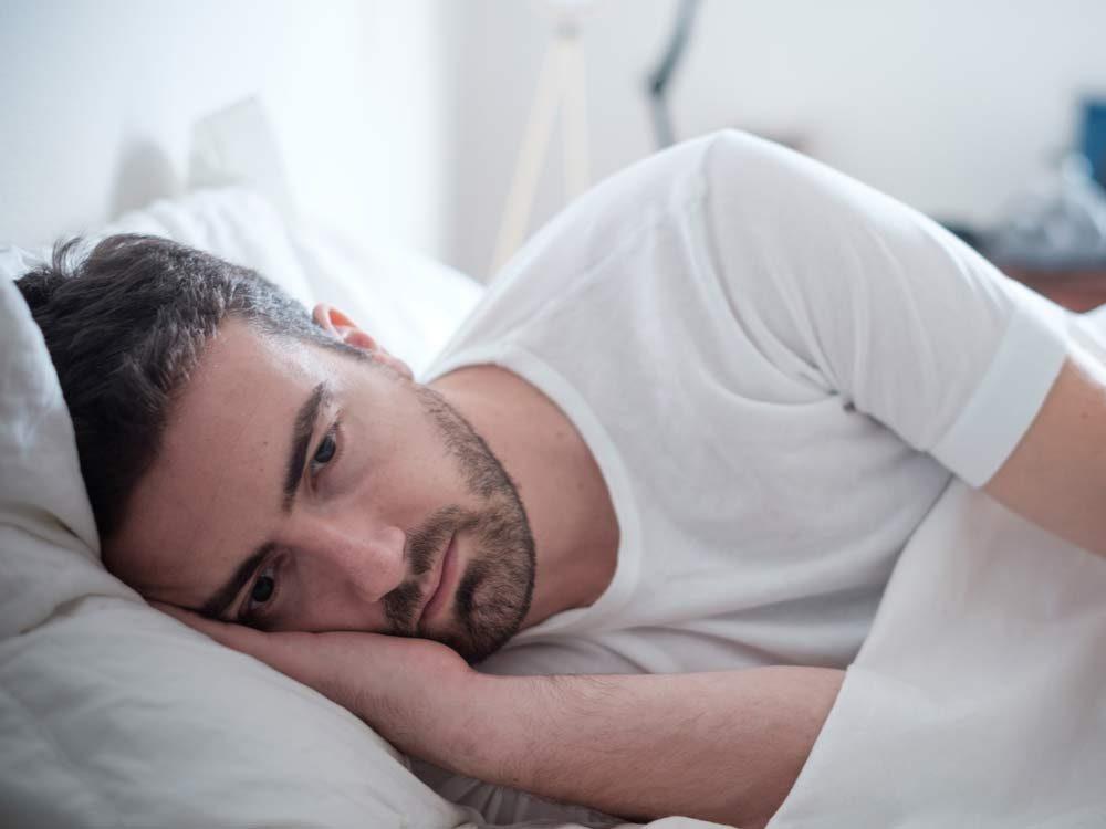 Man feeling fatigue
