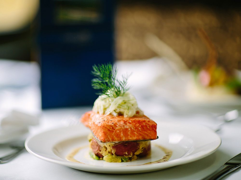 Five star cuisine on Rocky Mountaineer