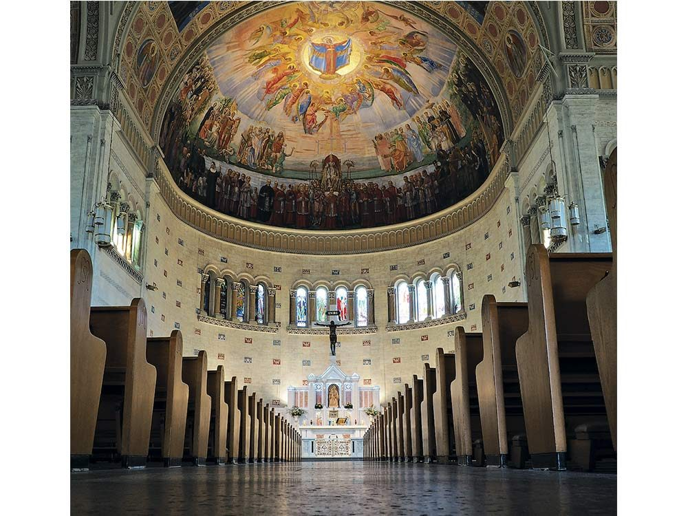 Notre-Dame-de-la-Defense Church in Montreal's Little Italy