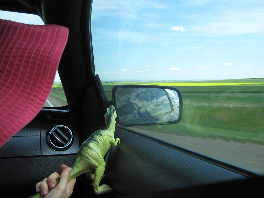 Driving to Drumheller