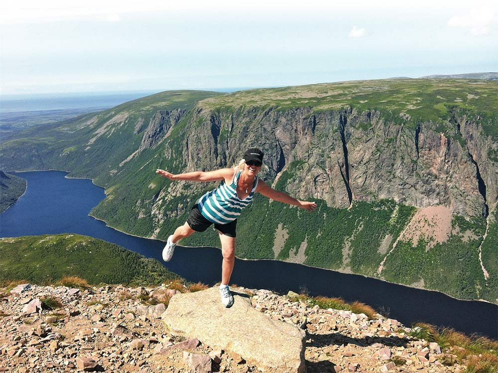 Julia atop Gros Morne during a recent visit