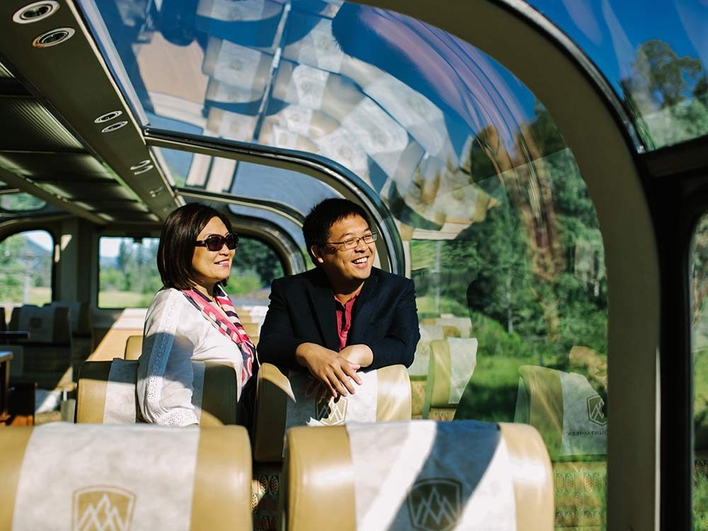 Rocky Mountaineer GoldLeaf service coach