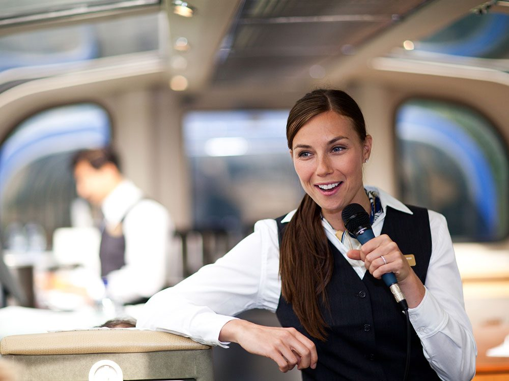 Rocky Mountaineer host story