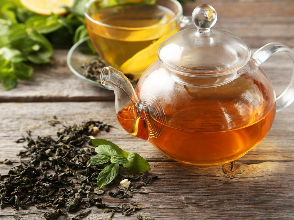 Cold green tea can help beat a cold
