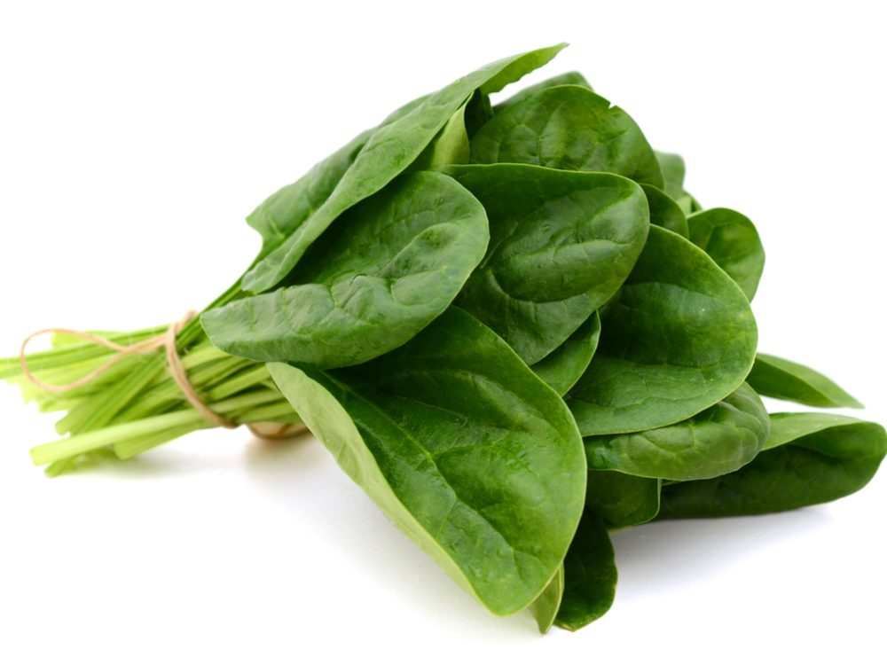 Spinach is a calcium-rich food that will help your burn fat