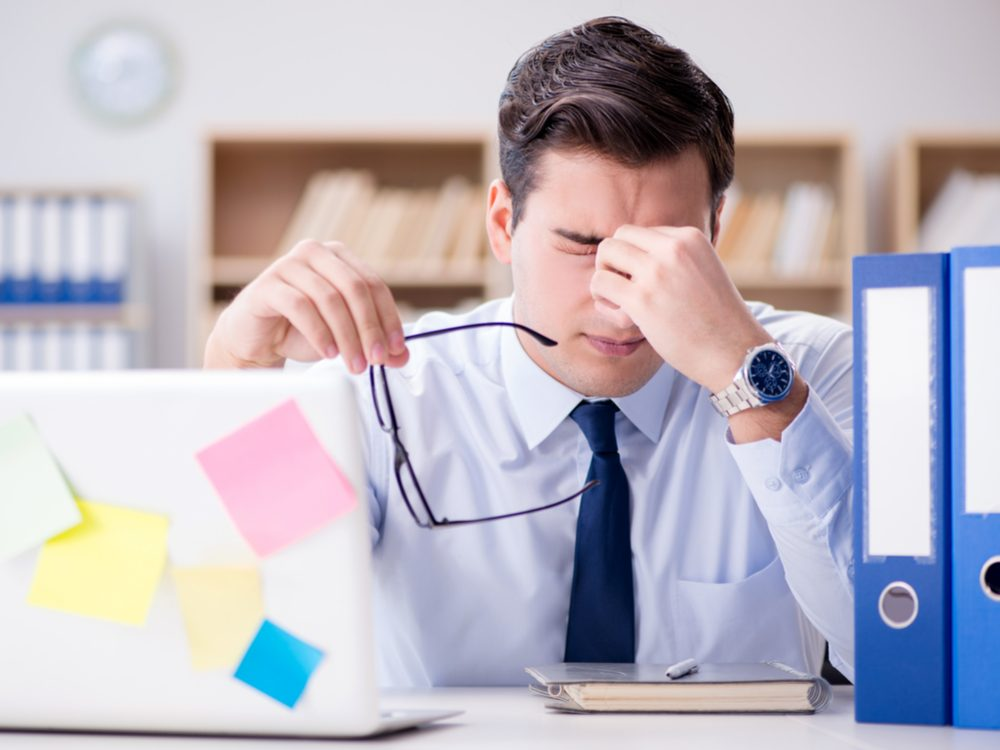 Don't tackle an important project at work when you are tired