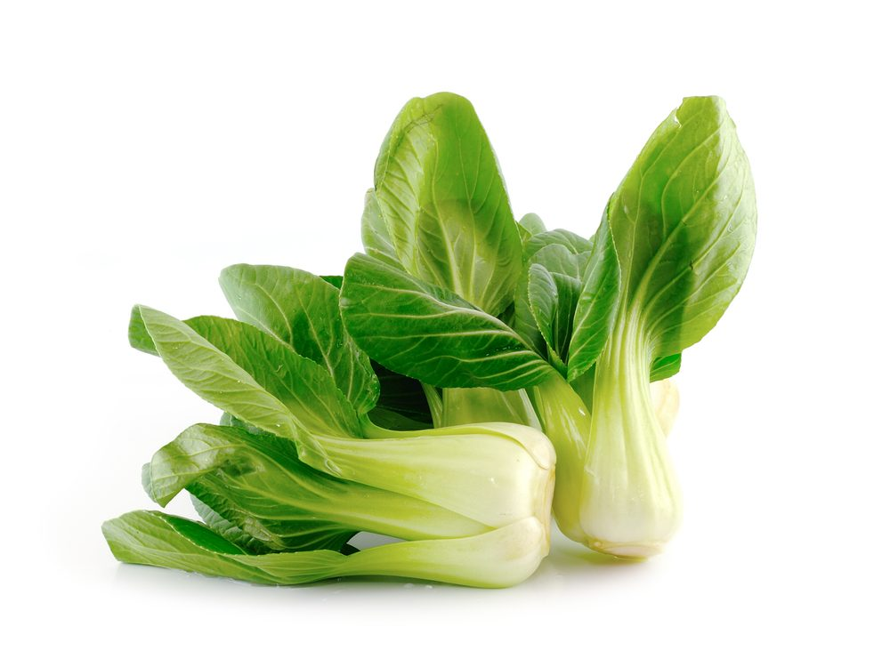 Bok choy is a calcium-rich food that will help your burn fat