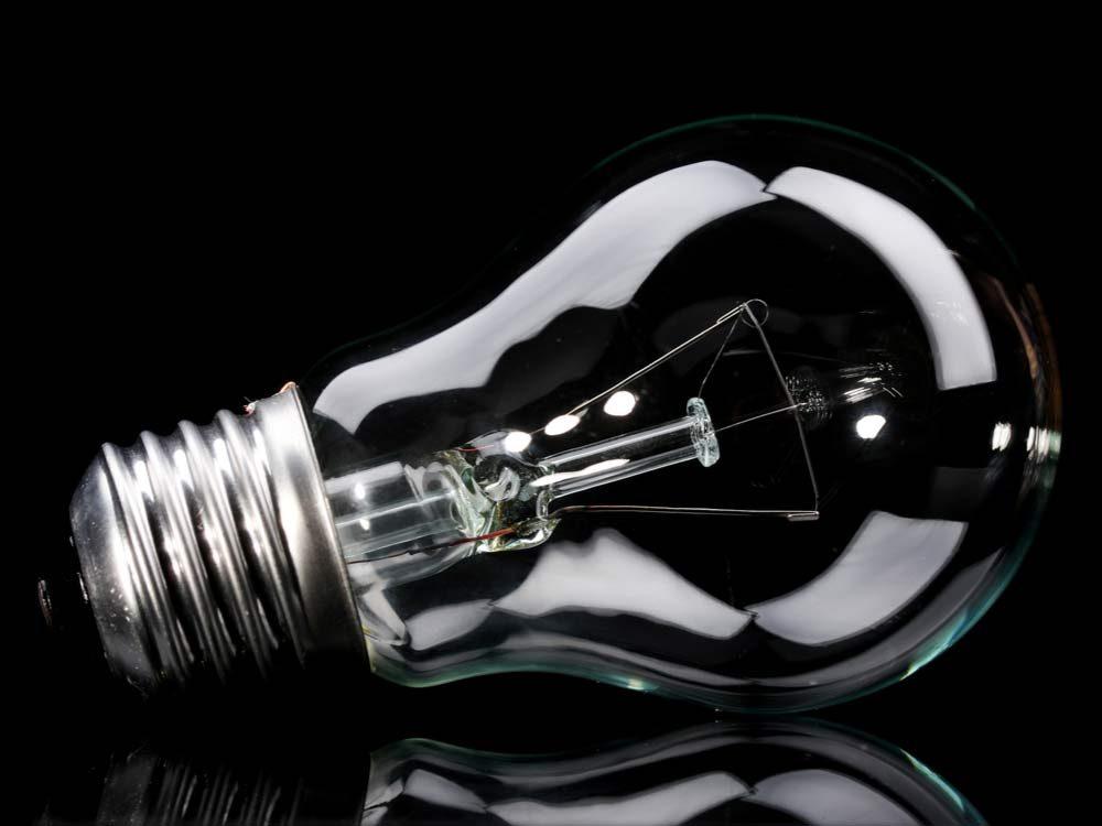 Light bulb close-up