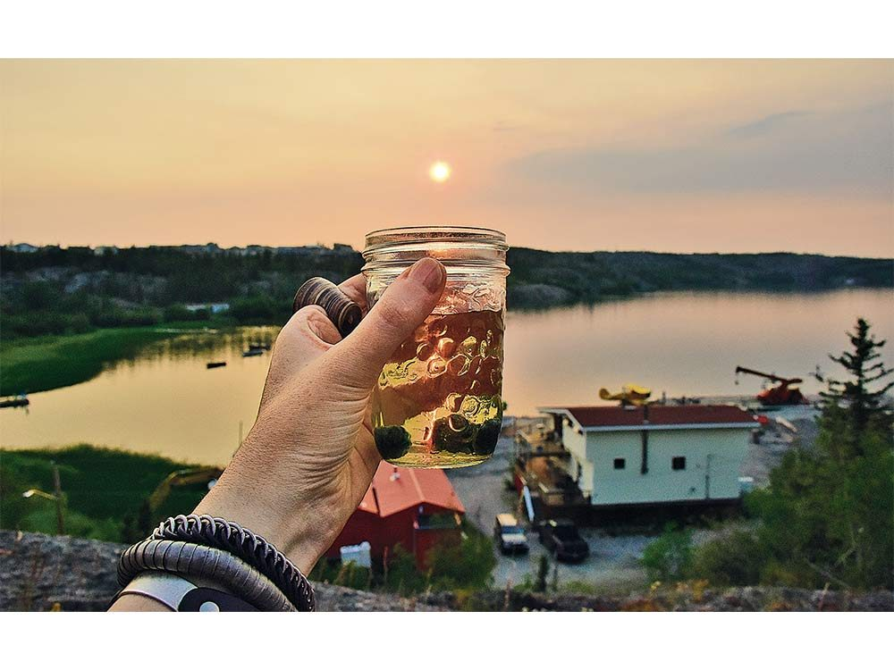 Beer in the midnight sun