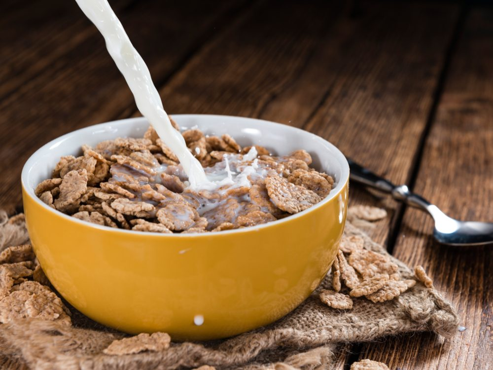 Eat cereal every day for breakfast to increase your dietary fibre