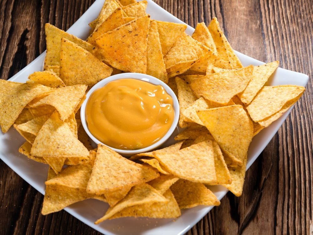 Queso is an unhealthy condiment choice.