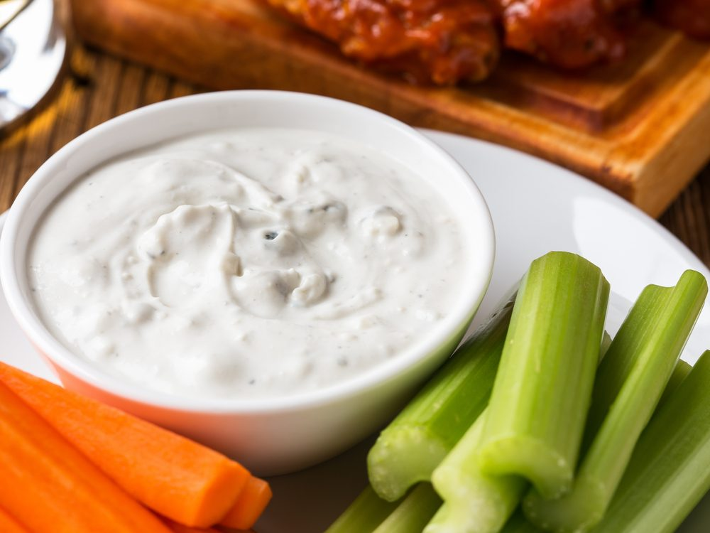 Blue cheese dressing is an unhealthy condiment choice.