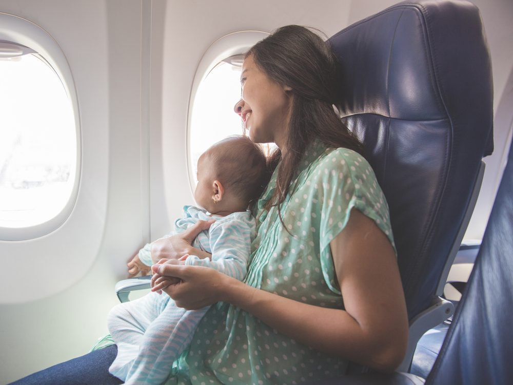 Do not fly with a baby on your lap