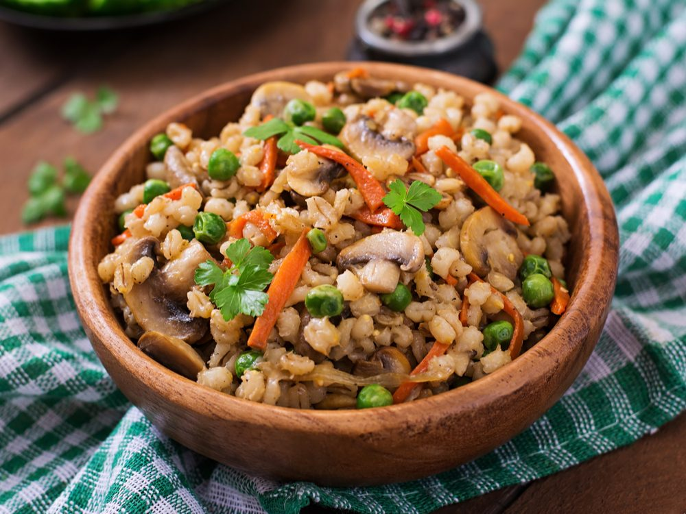 Once a week, make pearl barley as a side dish to increase your dietary fibre