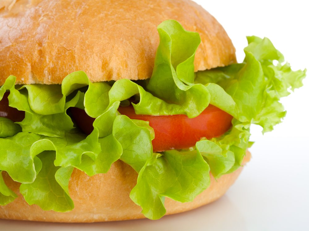 Always add lettuce and tomato slices rather than cheese to sandwiches to increase your dietary fibre