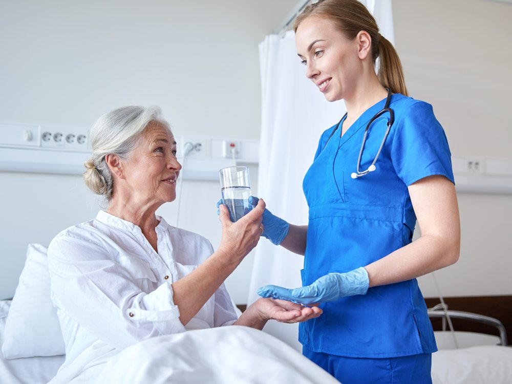 Never talk to a nurse while she's getting your medications ready