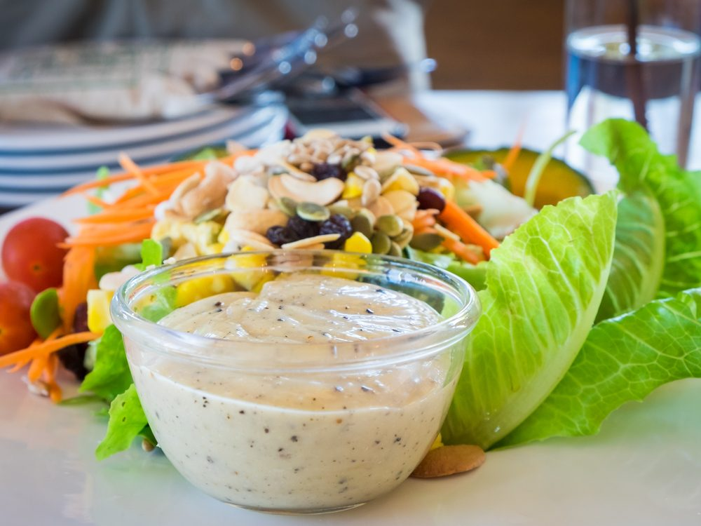 Ranch dressing is an unhealthy condiment choice.