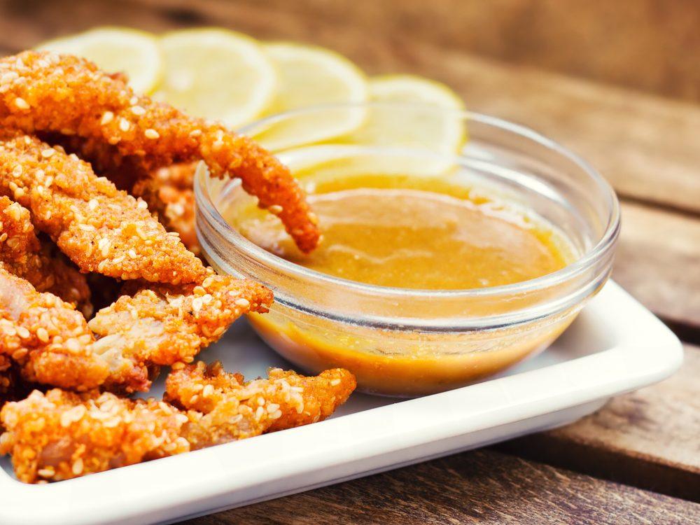 Honey mustard is an unhealthy condiment choice.