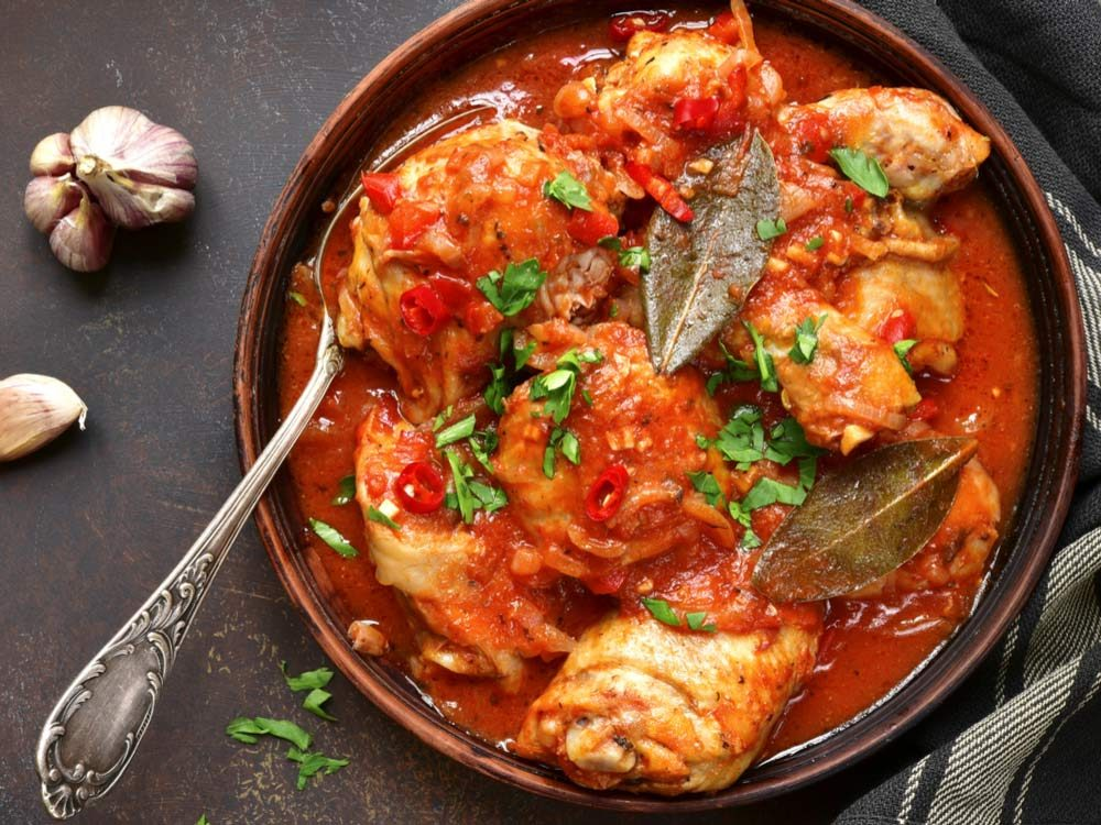 Braised chicken cooked in slow cooker
