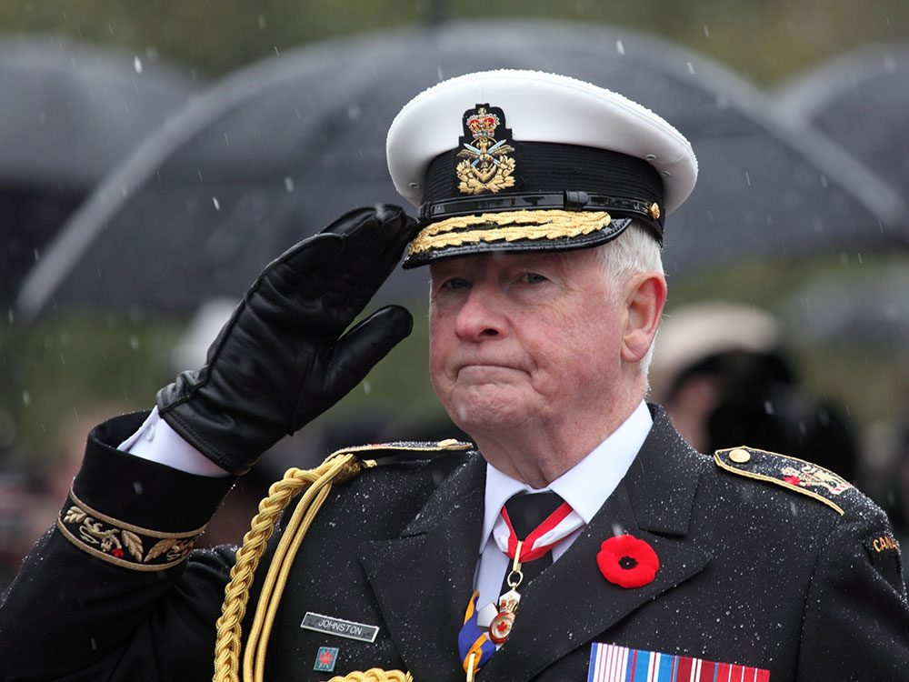 Former Governor General David Johnston