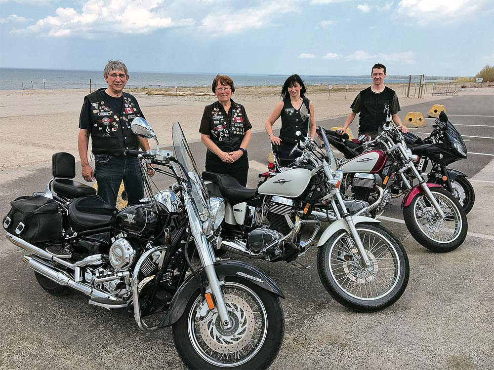 Family that rides together - Anderson family on motorcycles