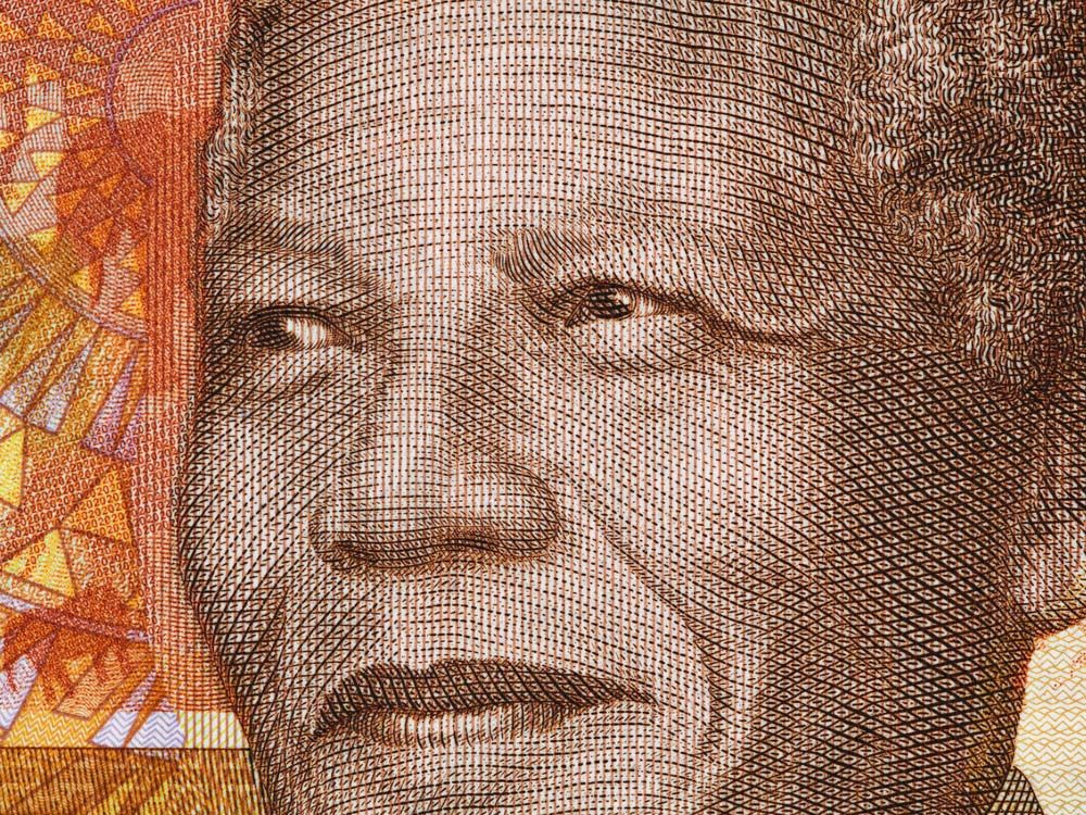 Nelson Mandela on banknote