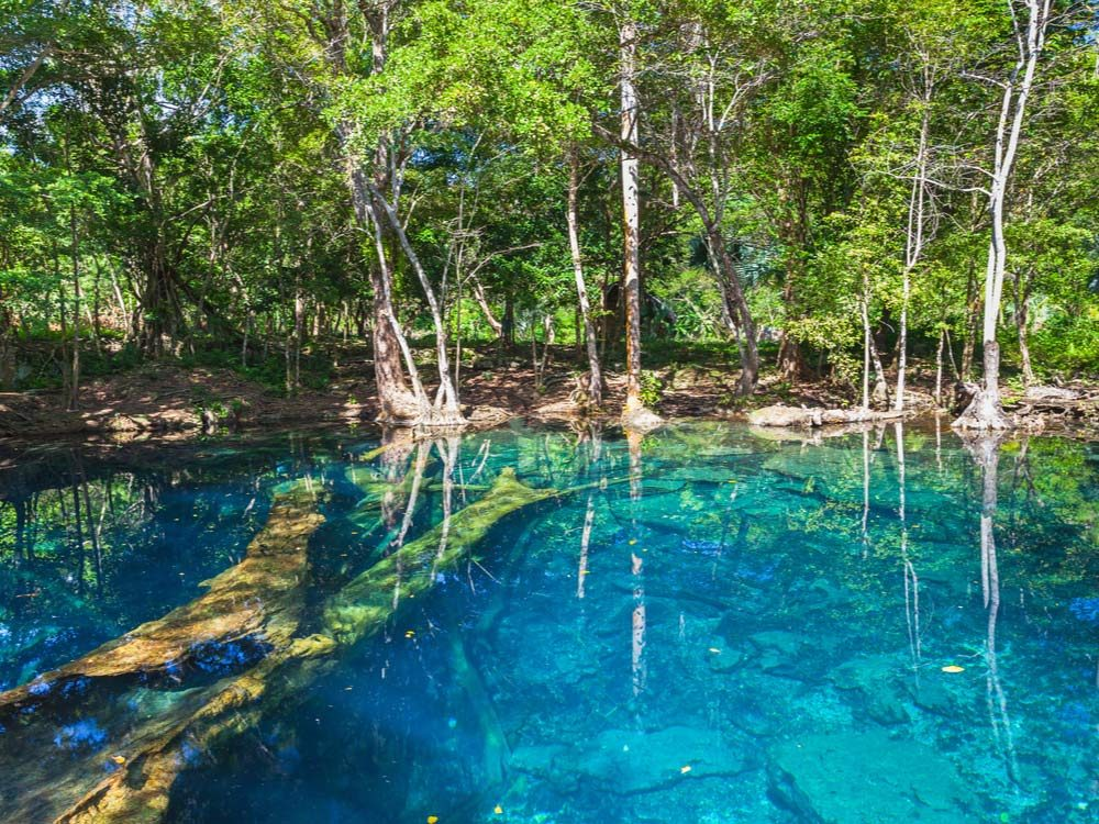 Blue Lagoon in the Dominican Republic