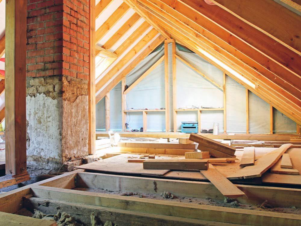 Renovating attic